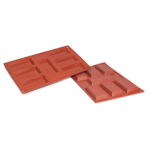 Rectangle Tart Silicone Baking Mould 7-Cavity 47ML