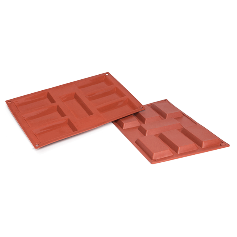 Rectangle Tart Silicone Baking Mould 7-Cavity 47,3 ML