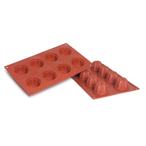 Kugelhopf Silicone Baking Mould 8-Cavity 50ML
