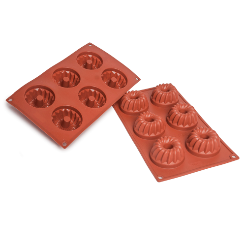 Kugelhopf Silicone Baking Mould 6-Cavity 80 ML