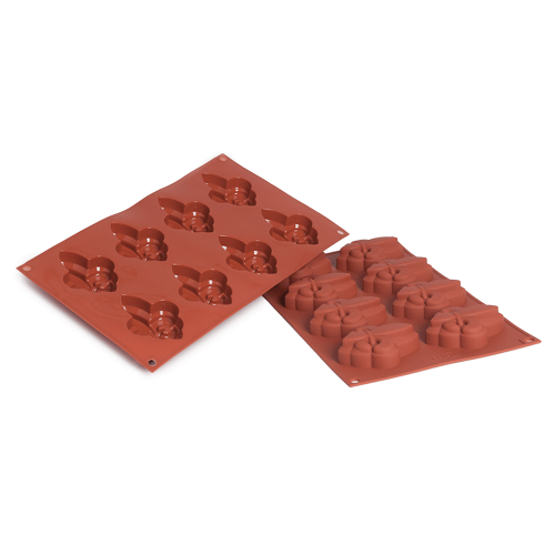 Fleur De Lis Silicone Baking Mould 8-Cavity 41,4 ML