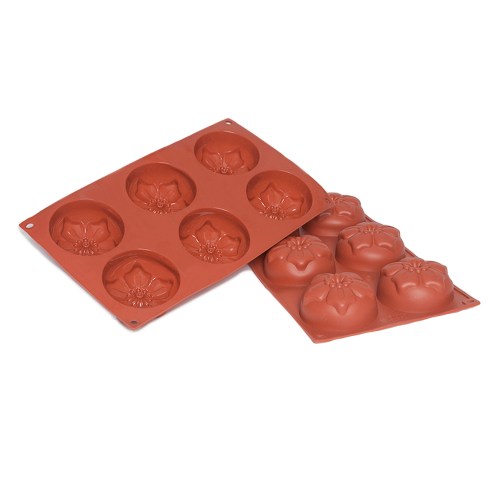 Narcissus Silicone Baking Mould 6-Cavity 112,4 ML