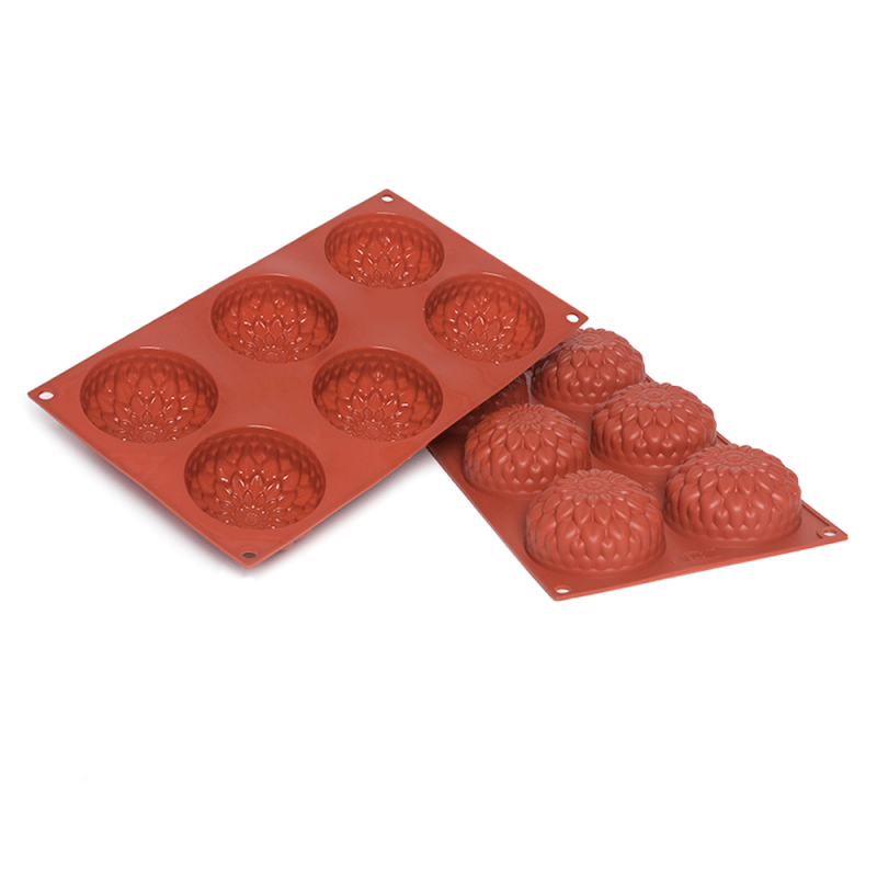 Dahlia Silicone Baking Mould 6-Cavity 115ML