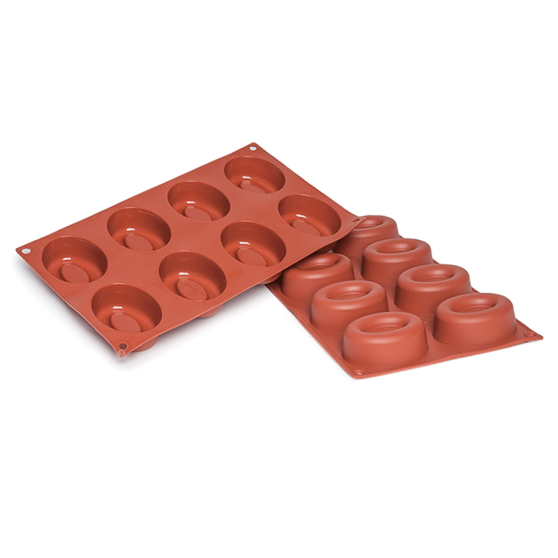 Oval Savarin Silicone Baking Mould 8-Cavity 73,9 ML