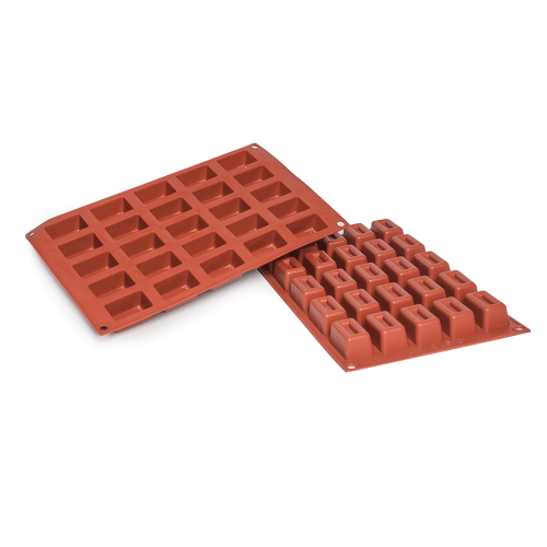 Lingotto Small Silicone Baking Mould 25-Cavity