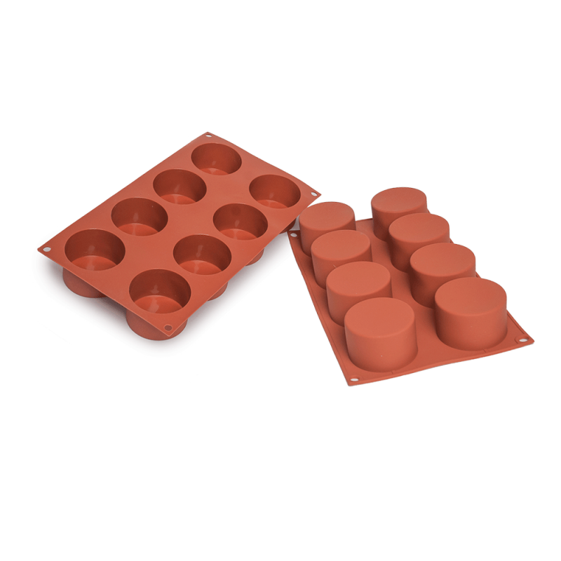 Cylinder Silicone Baking Mould 8-Cavity 121ML