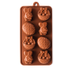 Easter Bunny, Egg and Basket Silicone Chocolate Mould 8-Cavity