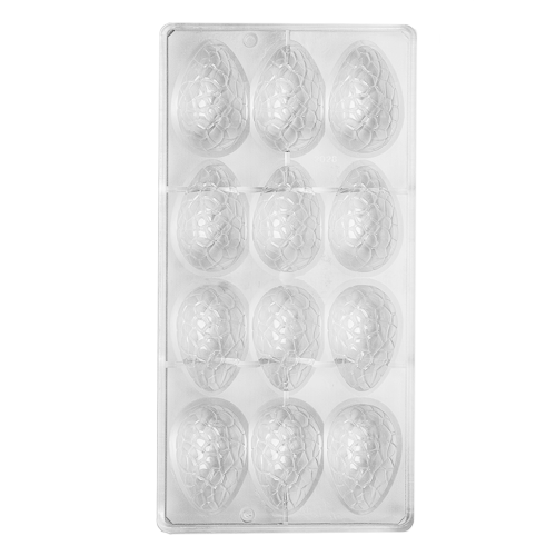 Speckled Egg Polycarbonate Chocolate Mould 12-Cavity