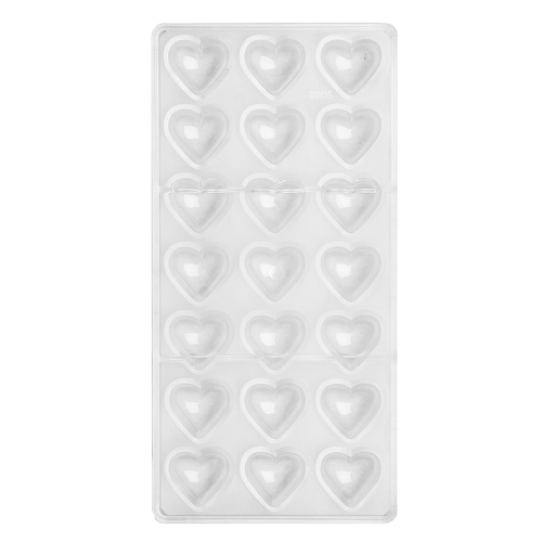 Pillow Heart Polycarbonate Chocolate Mould