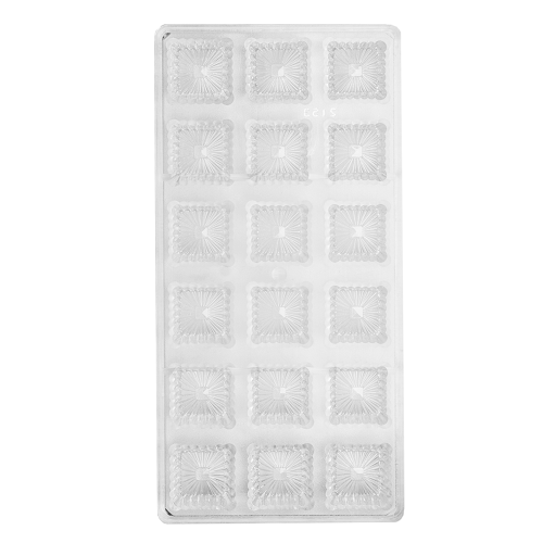 Fluted Square Polycarbonate Chocolate Mould