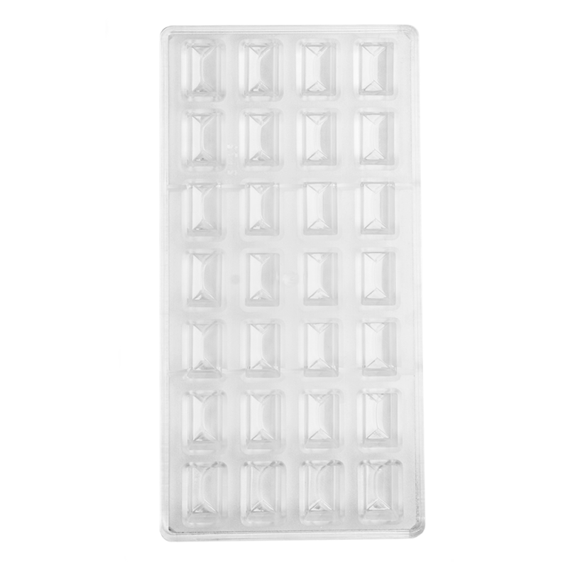 Overlap Rectangle Polycarbonate Chocolate Mould
