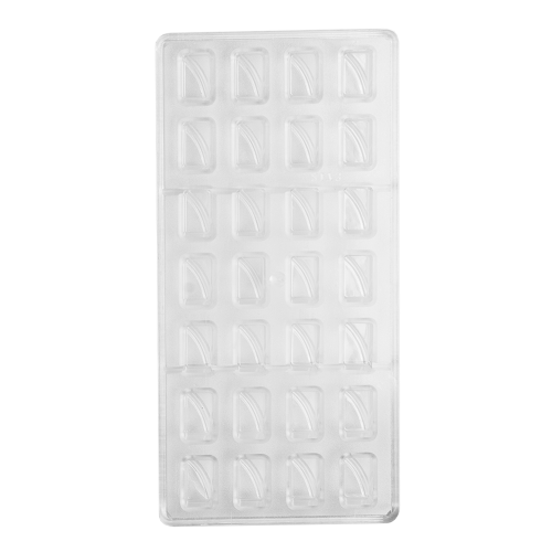 Rectangle With Swirl Polycarbonate Chocolate Mould