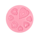 Heart Button Fondant Silicone Mould