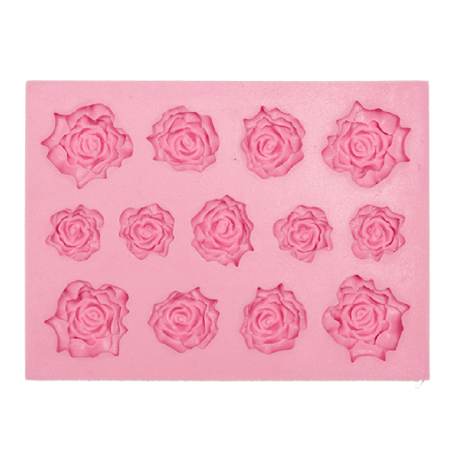 Assorted Roses Silicone Fondant Mould