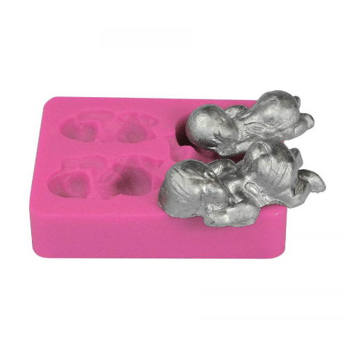 Sleeping Baby Silicone Fondant Mould 3 Cavities