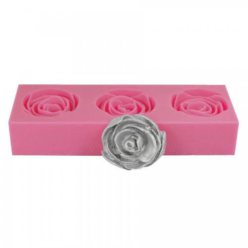 3D Rose Silicone Fondant Mould